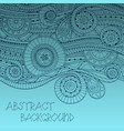 Background with geometric mosaic elements vector image