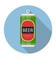 beer bottle template in modern flat style icon on vector image vector image