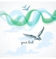 birds in sky background vector image vector image