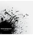 Black grunge ink blot vector image vector image