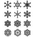 black snowflakes 3 vector image vector image