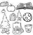 bunch of doodles vector image vector image