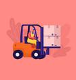 cargo logistics and warehouse service concept vector image