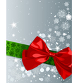 Christmas bow vector image vector image