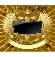classic gold-black banner vector image vector image