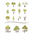 Collection icons - trees vector image vector image