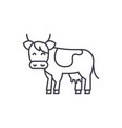 cow line icon concept cow linear vector image vector image