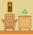 cozy interior living room vector image vector image