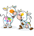 cute colorful cow isolated on white background vector image vector image