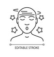 dizziness linear icon vector image