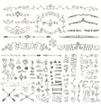 Doodle borderarrowsdecor element kit vector image vector image
