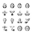 eco energy icon set vector image vector image