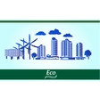environmental city vector image vector image