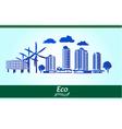 environmental city vector image