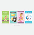 flat fitness vertical banners vector image vector image