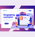 flat modern design of wesite template - engaging vector image
