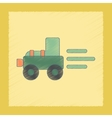 flat shading style icon Kids Tractor vector image