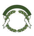 green olive branches and ribbon interlace vector image vector image