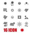 grey solar energy icon set vector image vector image