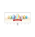 happy easter design of festive billboard with vector image vector image