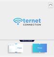 initial e internet logo design wifi network vector image