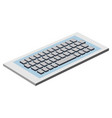 keyboard computer isometric icon vector image