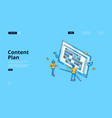 landing page content plan vector image vector image