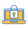 laptop device digital padlock security data vector image vector image
