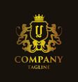 luxury letter y logo vector image vector image
