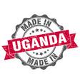 made in uganda round seal vector image vector image