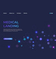 medical landing concept medicine service and vector image vector image