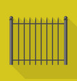 metal barrier icon flat style vector image