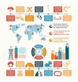 Mountain climber equipment inforgraphic vector image vector image