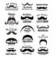 mustache symbols men health november month vector image vector image