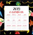 new year calendars vector image