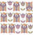 owls abstract seamless pattern it is located in vector image vector image