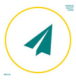 paper airplane icon graphic elements for your vector image