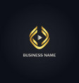play music button gold logo vector image