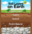 poster design for soil layers on earth vector image vector image