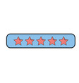 rating stars bar to choose the favorite vector image