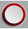 Red circle empty banner on white background vector image