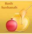 rosh hashanah holiday jewish concept background vector image