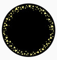 round frame scattering golden triangles vector image