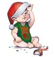 Santa baby vector image vector image