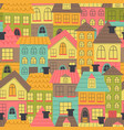 seamless pattern with many houses vector image vector image