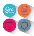 seo search engine optimisation and marketing icon vector image vector image