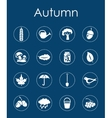 Set of autumn simple icons vector image vector image