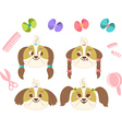 Set of dog hairs vector image