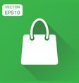 shopping bag icon business concept shop sale bag vector image