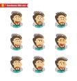 Software engineer facial emotions vector image